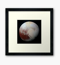 PLUTO - New hi-res image from NEW HORIZONS spacecraft Framed Print