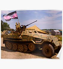 WWII German Halftrack Poster