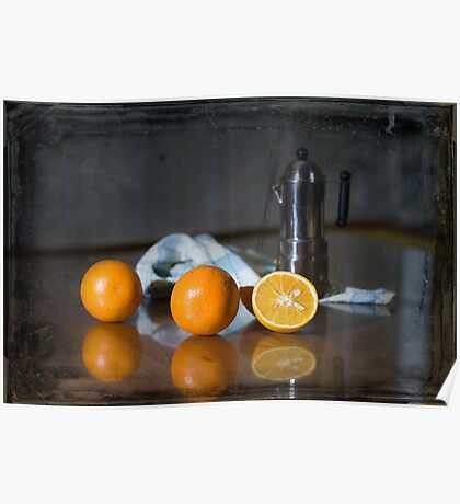 Oranges and coffee Poster