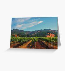 California Vineyard Grußkarte