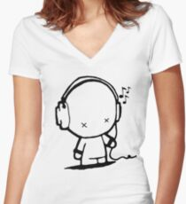 Music Man Women's Fitted V-Neck T-Shirt
