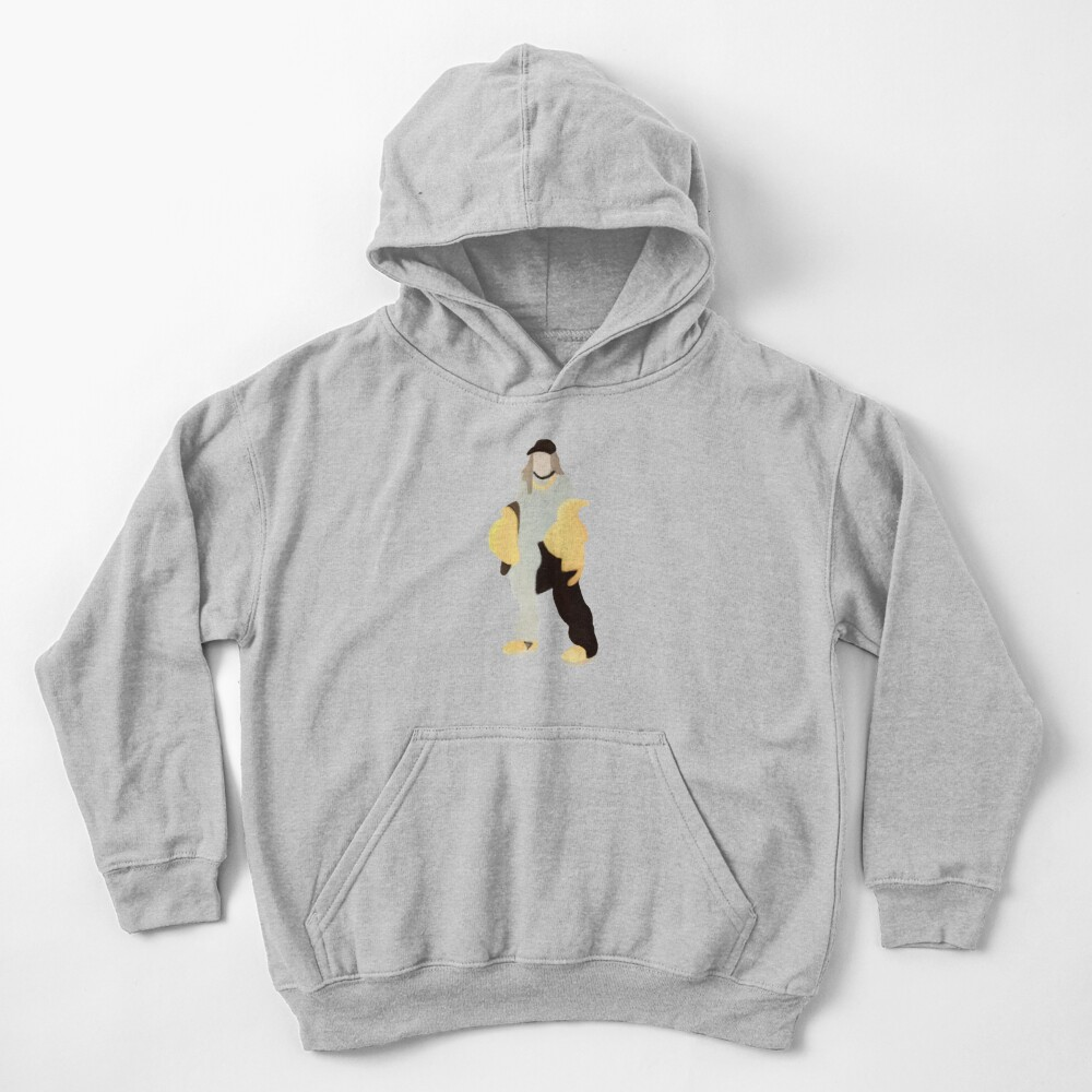 Black And Yellow Billie Silhouette Kids Pullover Hoodie