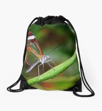 In Balance Glasswing - Greta oto Drawstring Bag