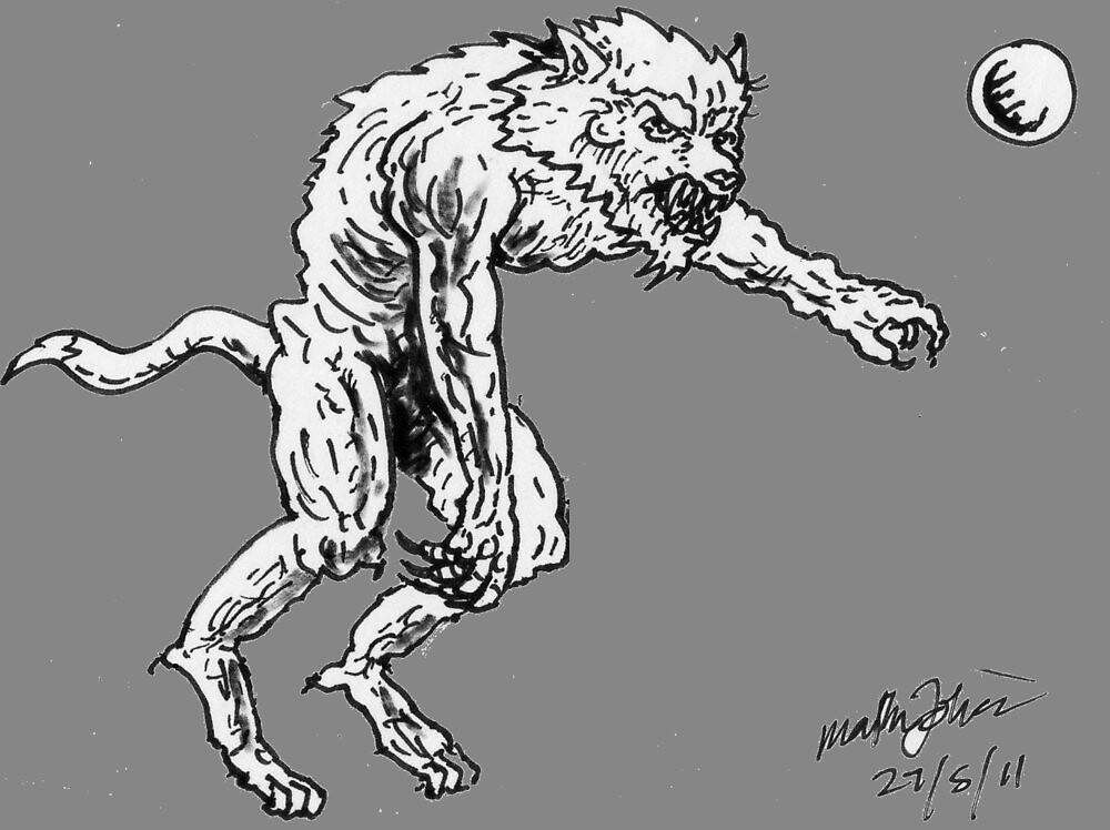 Bipideal werewolf by mattycarpets