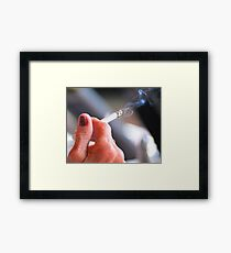 Female smoker. Framed Print