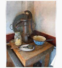 Water Pump in Kitchen Poster