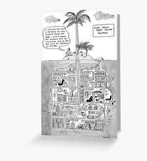 never assume island Greeting Card