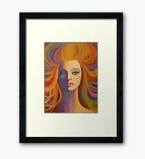 A CONTEMPORARY LADY Framed Print