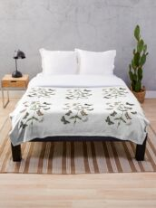 Butterflies and moths illustration Throw Blanket