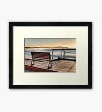 Dee Why beachside bench Framed Print