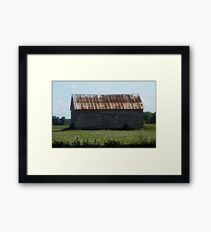 Weather Worn Building Framed Print