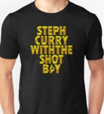 Steph Curry With The Shot Boy [With 3 Sign] Shiny Gold T-Shirt