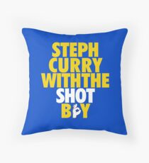 Cojín Steph Curry con The Shot Boy [Con 3 signos] Oro / Blanco