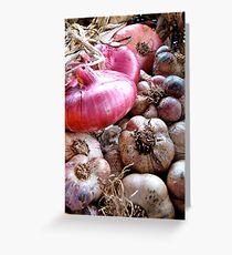 Onions & Garlic Greeting Card