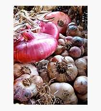 Onions & Garlic Photographic Print