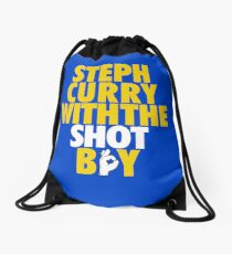 Steph Curry With The Shot Boy [With 3 Sign] Gold/White Drawstring Bag