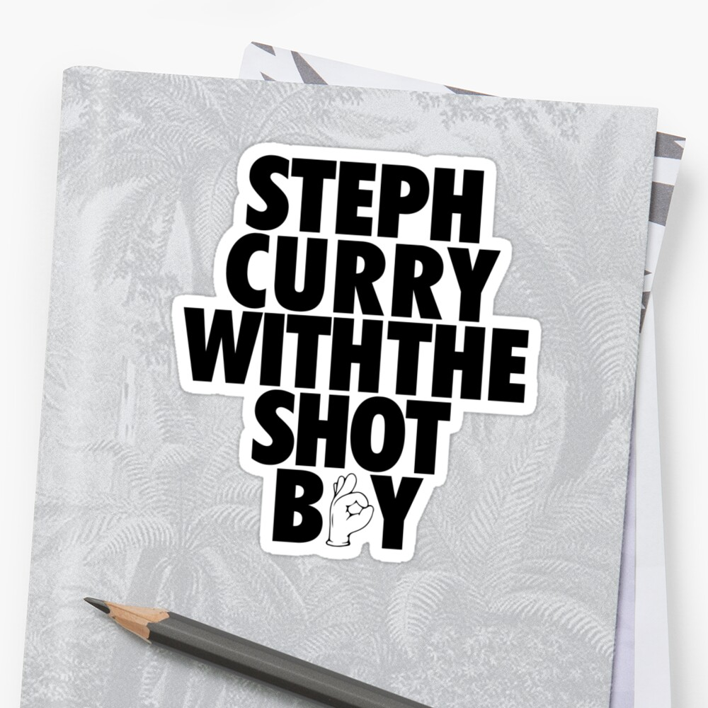 Steph Curry With The Shot Boy [With 3 Sign] Black by OGedits