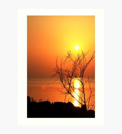 Sunrise over the bay... Art Print