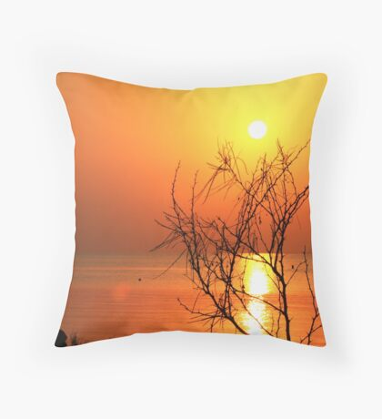 Sunrise over the bay... Throw Pillow