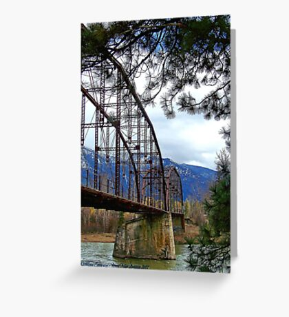 The Old Steel Bridge Greeting Card