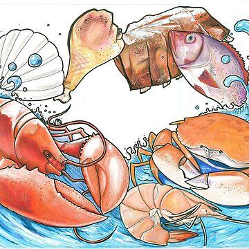 Mama Nem's Seafood design by thalilarsenic