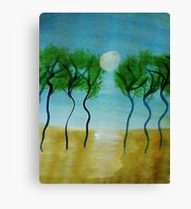 Trees(green) Series #2, watercolor Canvas Print
