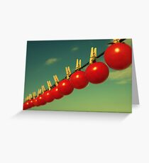 Sun dried tomatoes Greeting Card
