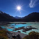 Sunburst over Aoraki from Kea Point - New Zealand by Mark Shean
