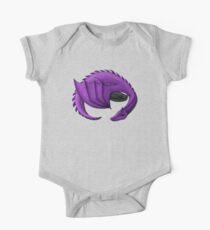 Purple Dragon Curled Around Sleeping Cat One Piece - Short Sleeve