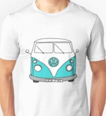 Retro Blue VW Van T-Shirt