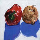 Pepper and onion (2) by Helen Imogen Field