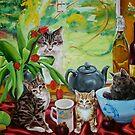 Hamish returns - cats and kittens by Helen Imogen Field