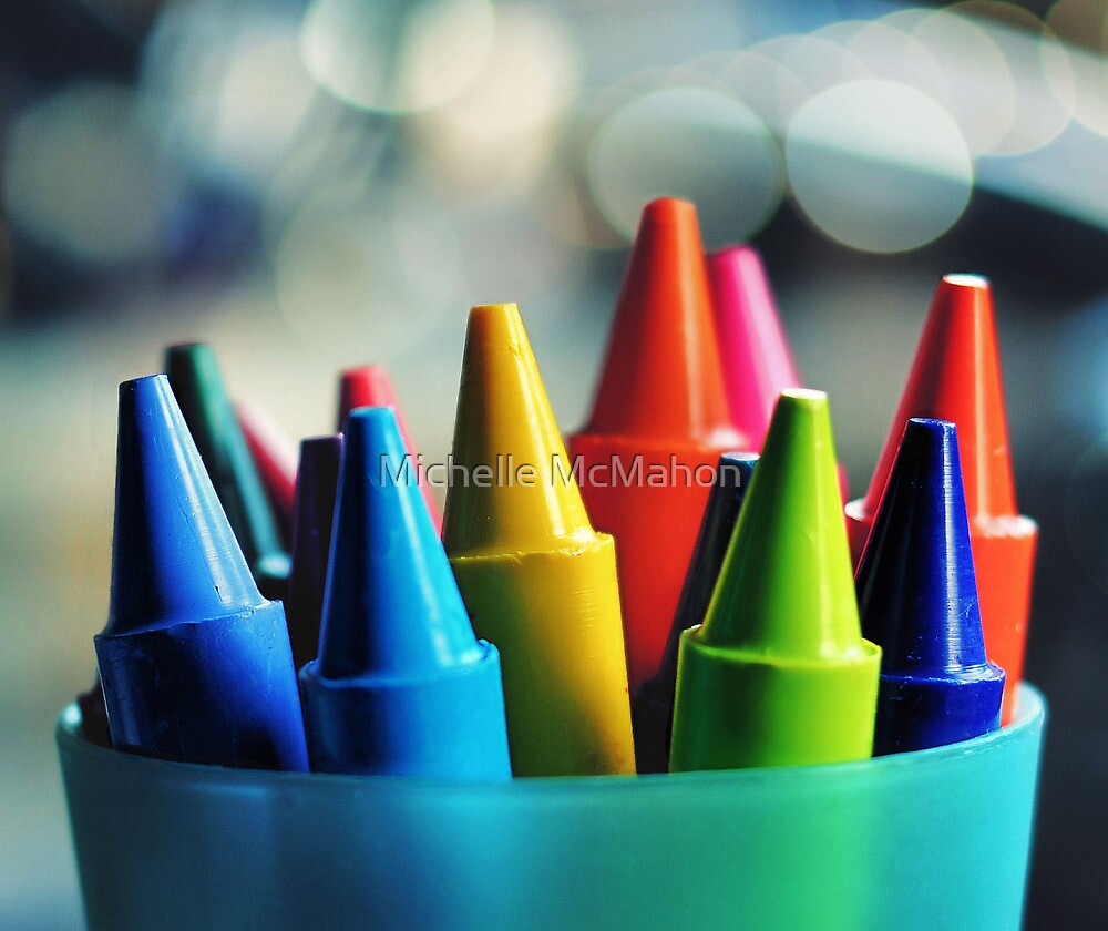 crayons.. by Michelle McMahon