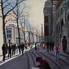 Leaving the Victoria and Albert museum - early Spring in London by Helen Imogen Field