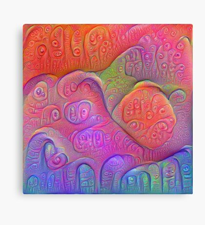 DeepDream Tomato Steelblue 5K v1 Canvas Print