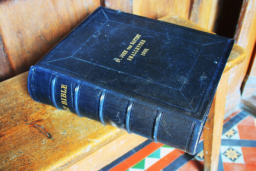 Bible On The Bench by Dave Godden