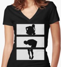YONKERS Women's Fitted V-Neck T-Shirt