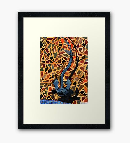 209 - 'A' IS FOR ANCHOR - COLOURED PENCILS - 2008 Framed Print
