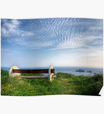 A Seat with a View - Alderney Poster