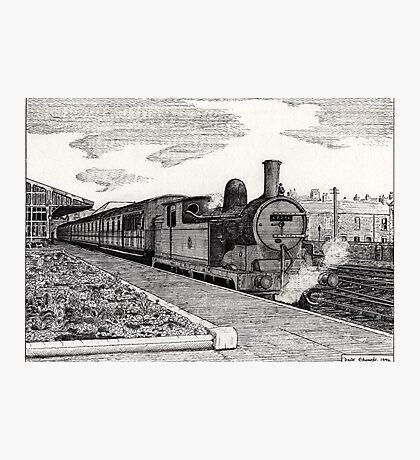 197 - STEAM TRAIN AT BLYTH (INK) 1994 Photographic Print