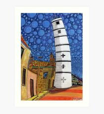201 - THE LIGHTHOUSE, BLYTH - COLOURED PENCILS - 2008 Art Print