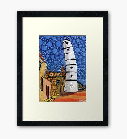 201 - THE LIGHTHOUSE, BLYTH - COLOURED PENCILS - 2008 Framed Print
