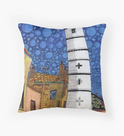 201 - THE LIGHTHOUSE, BLYTH - COLOURED PENCILS - 2008 Throw Pillow