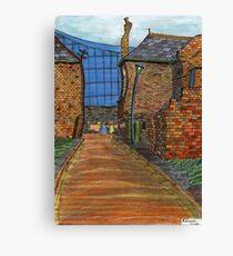 200 - COWPEN QUAY, BLYTH - COLOURED PENCILS - 2008 Canvas Print