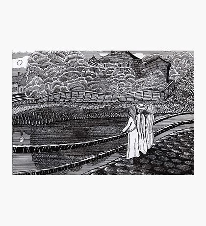 212 - MUNCH'S GIRLS ON A JETTY (INK) Photographic Print