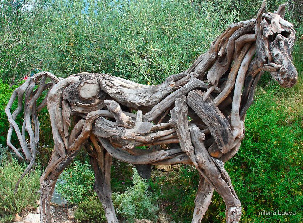 wooden figure  by milena boeva