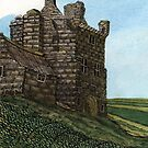 223 - MORPETH CASTLE IN 1777 - DAVE EDWARDS - INK & WASH - 2008 by BLYTHART