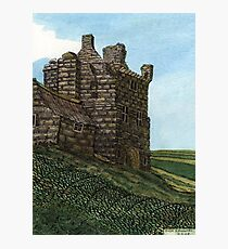 223 - MORPETH CASTLE IN 1777 - DAVE EDWARDS - INK & WASH - 2008 Photographic Print