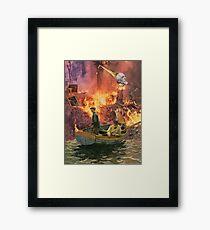 The Night Poacher. Framed Print