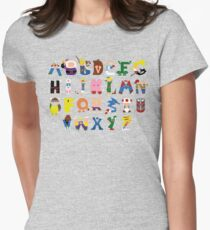 Gamer's Alphabet Womens Fitted T-Shirt